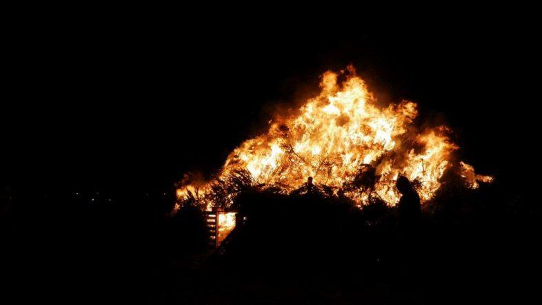 Kerstboomverbranding Hellevoetsluis 2019